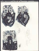Catwoman Cover Prelims - Signed  Comic Art