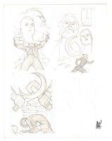 Catwoman #? Three Pencil Cover Prelims - Signed Comic Art