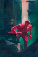 Daredevil #606 Painted Art Cover - LA - On Rooftop - 2017 Signed