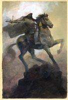 Doctor Doom on Horseback Painting - LA - Signed