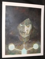 Infamous Iron Man #12 Painted Art Cover - Doctor Doom - 2017 Signed Comic Art
