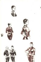 Maria Hill Five Figures for Illuminati Comic Art