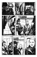 George A. Romero's Empire of the Dead #1 p.6 - SWAT Team on the Subway - 2013 Comic Art