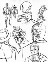 Daredevil Series Published Drawings #19 - Daredevil Portrait Comic Art