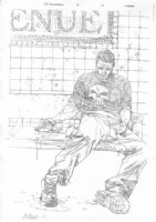 Punisher War Journal #21 Pencil Cover - 2008 Signed Comic Art