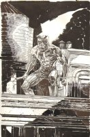 Daredevil Commission with Super Full Background - 2010 Signed Comic Art