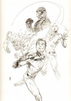 Ultimate Origins #5 Cover - The Fantastic Four - 2008 Signed