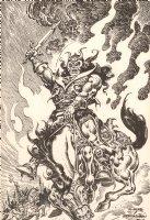 Conan the Destroyer Frank Frazetta Published Homage - Signed Comic Art