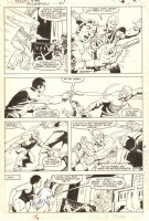 Power Man and Iron Fist #97 p.11 - Danny Rand and Colleen Wing Action - 1983 Signed by Mignola Comic Art