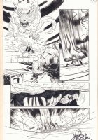 Drax #10 p.12 - Drax from Guardians of the Galaxy Action vs. Fing Fang Foom - 2016 Signed  Comic Art