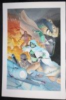 Gamora #5 Painted Art Cover - Gamora, Thanos, and Nick Fury - 2016 Signed Comic Art