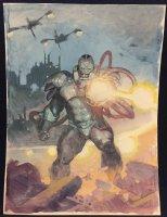 Apocalypse from the X-Men Painted Art Commission - LA - Signed Comic Art