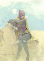 Batgirl Watercolor Commission Example - Now Accepting Commissions for the New York Comic Con: October 4-7th Comic Art