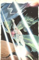 Silver Surfer: Requiem #3 Cover - Surfer in Space Battle - 2007 Signed
