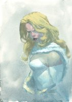 Emma Frost White Queen Painted Art Bust - Signed Comic Art