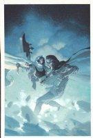 Gamora #3 Painted Art Cover - Gamora vs. Dr. Doom Robot? - Guardians of the Galaxy - 2016 Signed Comic Art