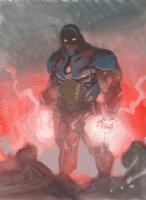 Darkseid Painted Art Commission - 2016 Signed Comic Art