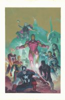 Avengers #1 Variant Painted Cover - Captain America, Iron Man, Thor, Black Panther, Doctor Strange, Captain Marvel, & Ghost Rider with the Avengers 1,000,000 BC - 2018 Signed Comic Art
