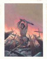 Conan the Barbarian is Back at Marvel Painted Art Promo Piece - 2018 Signed Comic Art