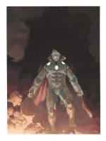 Infamous Iron Man #1 Painted Art Variant Cover - LA - Awesome Full Figure Doctor Doom Iron Man - 2016 Signed