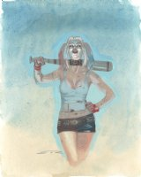 Harley Quinn from Suicide Squad Painted Art Commission - LA - Signed Comic Art