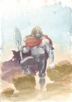 Thor Unworthy Design Watercolor Art  - LA - Signed