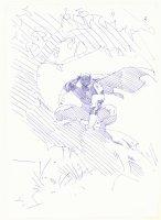 Black Panther #3 Cover Prelim - Panther Crouching - 2005 Comic Art
