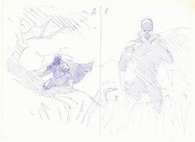 Black Panther #1 & #2 Cover Prelims - Two on one page - 2005 Comic Art