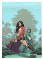 Green Arrow #27 Painted Art Cover - Wonder Woman and Green Arrow - 2017 Signed Comic Art