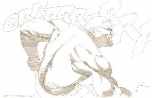 Anthony Snyder as Hulk Comic Art