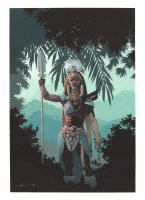 Black Panther #8 Painted Art Variant Cover - LA - Wakanda Babe - 2016 Signed