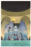 Thor: God of Thunder #4 Painted Cover - Old King Thor on Throne - 2012 Signed