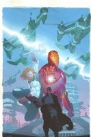 Ultimates, The #1 Painted Variant Cover - Thor, Iron Man, & Nick Fury - 2011 Signed