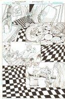 Batman: The Dark Knight #17 p.16 - Alice in Wonderland Caterpillar & Cheshire Cat - Alice Dee and Jervis Tetch Dream Sequence - 2013 Comic Art