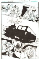 Batman: The Dark Knight #17 p.18 - Batman tracking Mad Hatter - 2013 Comic Art