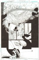 Batman: The Dark Knight #17 p.19 - Mad Hatter's Lair and the Batplane takes off - 2013 Comic Art