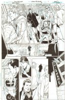 Batman: The Dark Knight #18 p.1 - Bruce Wayne on the Phone with Alfred - 2013 Signed Comic Art