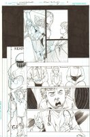 Batman: The Dark Knight #18 p.11 - Flashback to the Mad Hatter's Past - Child Jervis Tetch & Alice - 2013 Signed Comic Art