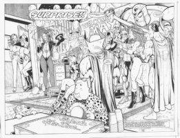 Impulse #67 DPS Suprise Party w/ Everybody DC Comic Art
