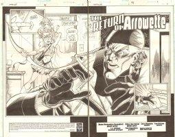 Impulse #4 pgs 2 & 3 - Arrowette & Max Mercury Title DPS - 1998 Comic Art