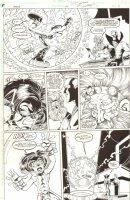 Impulse #62 p.7 - Bart Allen, Max Mercury, and Dr. Morlo - 2000 Signed Comic Art