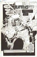 Impulse #66 p.1 - 'Merury Falling: The Conclusion: Deathrace' Title Splash - 2000 Signed Comic Art