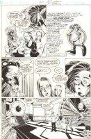 Impulse #66 p.2 - Bart Allen, Dr. Morlo, Helen Claiborne, and Carol Bucklen - 2000 Signed Comic Art