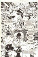 Impulse #66 p.8 - Bart Allen and Inertia Back Story Splash - 2000 Signed Comic Art