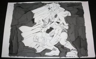 Dark Knight Unused Cover LA - Batman and Robin - Signed