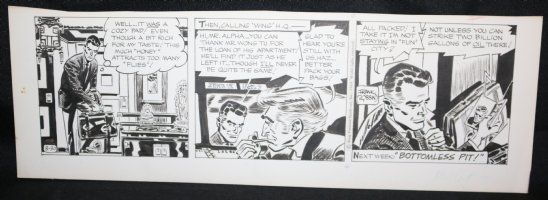 Johnny Hazard Daily Strip - Calling Wing H.Q. - 8/30/1969 Signed  Comic Art
