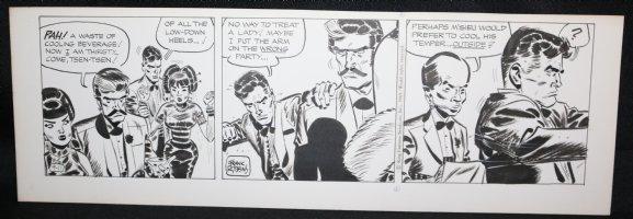Johnny Hazard Daily Strip - ''No way to treat a lady!'' - 9/11/1969 Signed  Comic Art