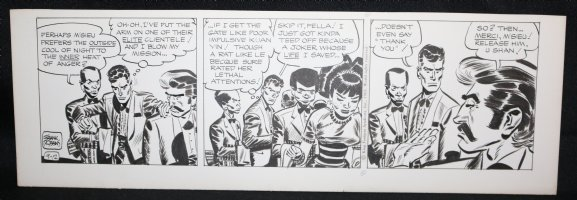 Johnny Hazard Daily Strip - Johnny about to fight - 9/12/1969 Signed  Comic Art