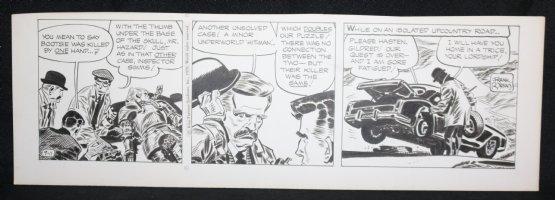 Johnny Hazard Daily Strip - LA - Dead Body - 9/11/1970 Signed Comic Art
