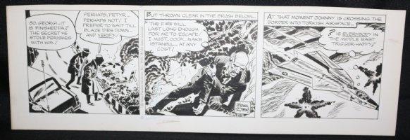 Johnny Hazard Daily Strip - Jet Action - 11/7/1969 Signed  Comic Art